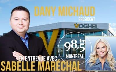 Dany Michaud, invité d'Isabelle Maréchal, le 9 Février 2021 au 98.5 FM Montréal