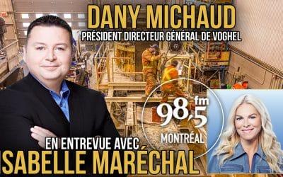 Dany Michaud, invité d'Isabelle Maréchal, le 12 Avril  2021 au 98.5 FM Montréal